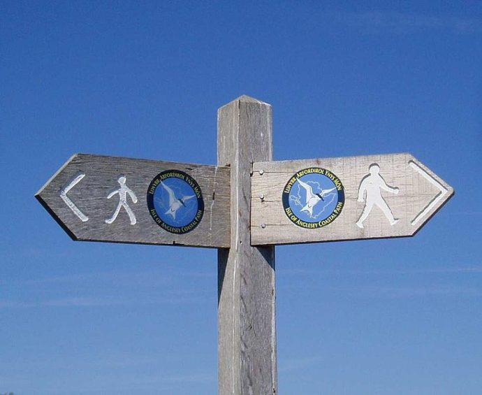 Anglesey Coastal Footpath sign