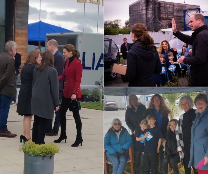 William and Kate visit halen Mon May 2019 collage